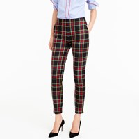 J.Crew Petite Martie Pant In Stewart Plaid Bi Stretch Wool