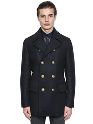 Dolce And Gabbana Wool Cashmere Cloth Pea Coat