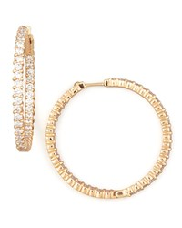 38Mm Rose Gold Diamond Hoop Earrings 2.46Ct Roberto Coin Pink
