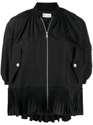 Red Valentino Pleated Flounce Bomber Jacket 60