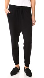 Alexander Wang Cashwool Dropped Rise Sweatpants Black