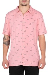 Barney Cools Seagull Print Shirt Pink Seagull