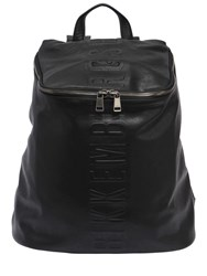 Bikkembergs Army Embossed Faux Leather Backpack Black