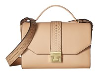 Ivanka Trump Hopewell Crossbody Messenger Nude Lasercut Cross Body Handbags Beige