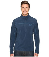 Mountain Hardwear Microchill Lite Zip T Navy Phoenix Blue Men's Long Sleeve Pullover