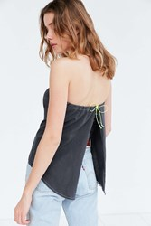 Silence And Noise Dev Apron Strapless Top Black