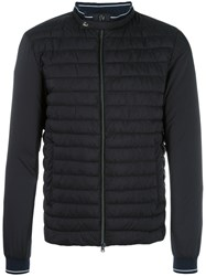 Herno Banded Collar Down Jacket Blue