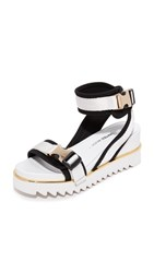 United Nude Rico X Wedge Sandals White