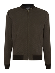 Peter Werth Smeaton Full Zip Bomber Jacket Navy