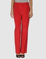 Escada Casual Pants Red