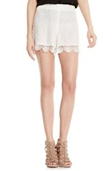 Women's Vince Camuto Embroidered Lace Shorts Light Cream