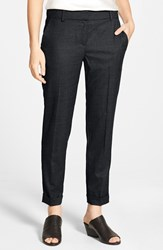 Women's Eileen Fisher Tapered Stretch Wool Ankle Trousers