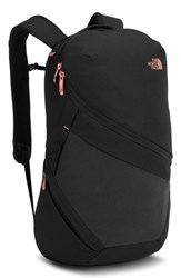 The North Face Aurora Backpack Black Tnf Black Hthr Coral Metallic