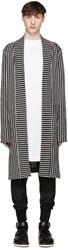 Pyer Moss Ssense Exclusive Black And White Striped Cardigan