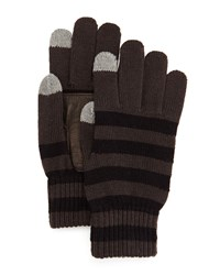 Penguin Costello Striped Tech Gloves Black Brown