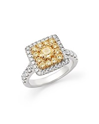 Bloomingdale's Yellow And White Diamond Ring In 14K White Gold White Yellow