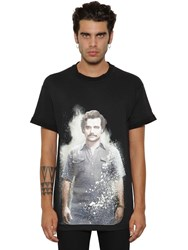 Ih Nom Uh Nit Escobar Print Cotton Jersey T Shirt Black