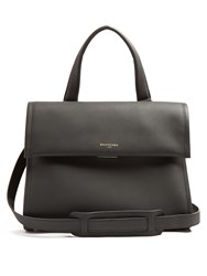 Balenciaga Tools Leather Satchel Bag Dark Grey
