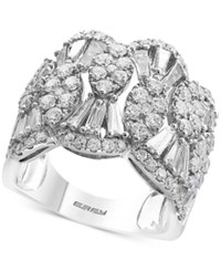 Effy Classique By Diamond Scalloped Statement Ring 2 1 4 Ct. T.W. In 14K White Gold