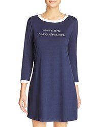 Kate Spade New York Light Sleeper Heavy Dreamer Nightgown Navy