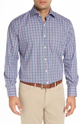 Peter Millar Men's Alan Regular Fit Plaid Sport Shirt Snapdragon