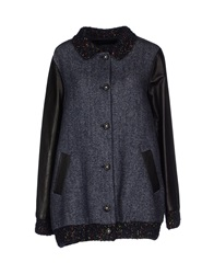 Kristina Ti Coats Dark Blue