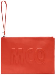 Mcq By Alexander Mcqueen Red Leather Logo Pouch
