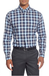 Brooks Brothers Trim Fit Heathered Check Sport Shirt Navy