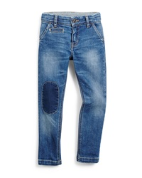 Little Marc Jacobs Patched Slim Fit Denim Jeans Blue Size 4 12