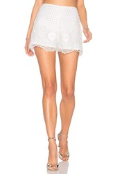 Karina Grimaldi Saint Lace Short White