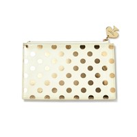 Kate Spade Pencil Pouch Gold Dots