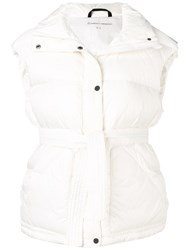 Perfect Moment Oversized Gilet White
