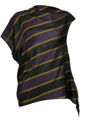 08Sircus Striped Asymmetric Blouse Pink Purple