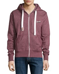 Superdry Zip Front Hoodie Port True Grit