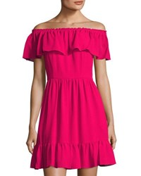 Cynthia Steffe Scarlett Off The Shoulder Ruffle Mini Dress Red