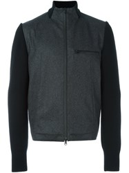 Y 3 Panelled Bomber Jacket Grey