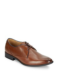 Steve Madden Mister Leather Derby Shoes Tan