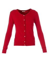 Relish Knitted Cardigan With Long Sleeves Red