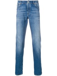Brunello Cucinelli Slim Faded Jeans Blue