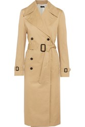 Joseph Townie Double Breasted Cotton Trench Coat Beige