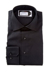 Lorenzo Uomo No Iron Trim Fit Perfect Dress Shirt Black