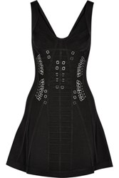 Herve Leger Marissa Embellished Bandage Mini Dress Black