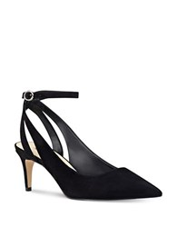 Nine West Shawn Suede Sling Back Pumps Black