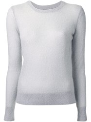 Michael Kors Semi Sheer Jumper Grey