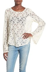 Women's Band Of Gypsies Lace Bell Sleeve Top
