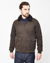 The Idle Man Sherpa Jacket Green
