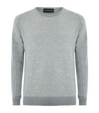 John Smedley Slim Fit Sea Island Cotton Sweater Male Light Grey