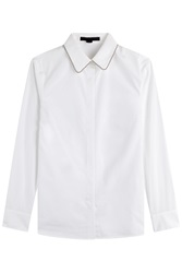 Alexander Wang Cotton Shirt With Embellished Collar White