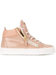 Giuseppe Zanotti Design 'Kriss' Mid Top Sneakers Pink And Purple