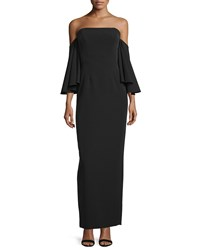 Milly Strapless Off The Shoulder Column Gown Women's Size 6 Black